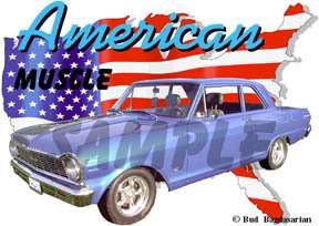 You are bidding on 1 1965 Blue Chevy Nova Custom Hot Rod USA T