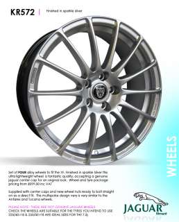 18 JAGUAR alloy wheels for xf tuccana antares style
