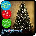 6ft 400 LED Pre Lit Traditional Victorian Pine Christma