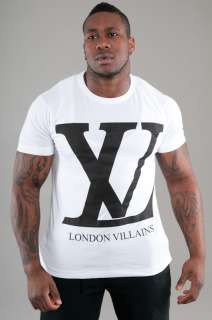 Global Mens URBAN HIP HOP T Shirt London Villains White