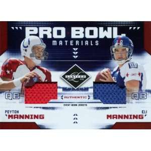 Peyton Manning & Eli Manning Unsigned Jersey Patch 2009