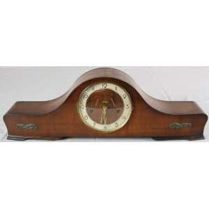 German Art Deco Mantle Clock Westminster Mahogany