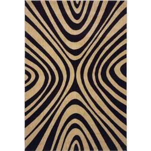 Angela Adams 02500 Angela Adams Mammy Black Contemporary Rug