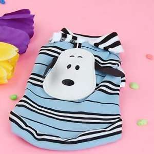 Pet Dog Striped T Shirt Coat Jacket Clothes Apparel 8#
