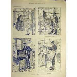1888 Sweating System Bird Cage Chair Making Weaving