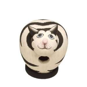 Birdhouse Mass Cat Black/White Antique (Bird Houses) (Cat