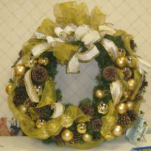 Artificial Christmas Garland Wreath with lights