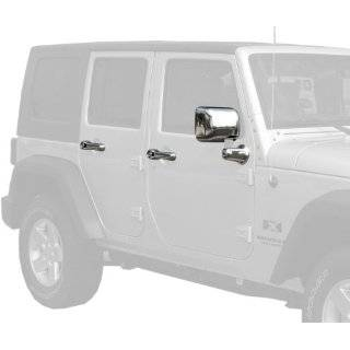 2007 2012 Jeep Wrangler Chrome Mirror Covers (Set of 2) Automotive