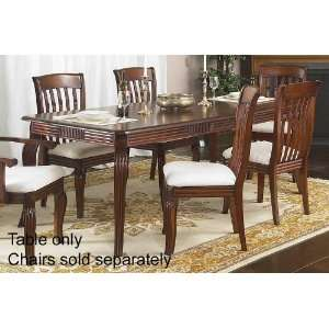 Extension Dining Table with Curved Legs Design in Brown