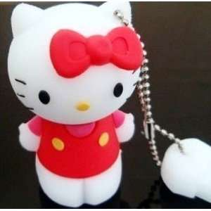 4GB Cute Red Hello Kitty with Red Bow Style USB flash