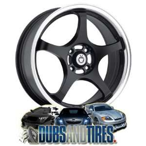 Konig Matt Black Wheel with Machined Lip (17x7/4x100mm