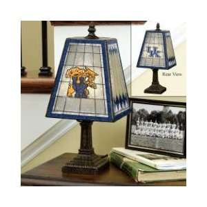KENTUCKY WILDCATS Team Logo Hand Painted ART GLASS TABLE LAMP (14