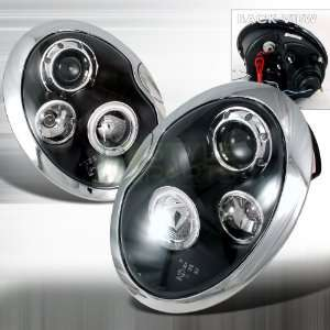 2001 2005 Mini Cooper Halo Led Projector Headlights Black