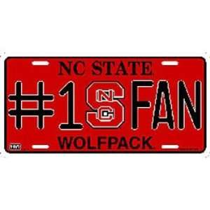 North Carolina State Wolfpack License Plate Number 1 Fan