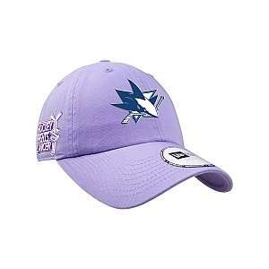 New Era San Jose Sharks Hockey Fights Cancer Womens Adjustable Hat