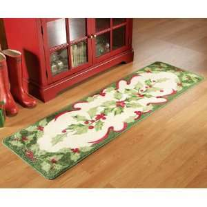 Holiday Holly Floor Runner Area Rug By Collections Etc
