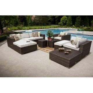 Weather Wicker Patio Furniture Deep Seating Set Patio, Lawn & Garden