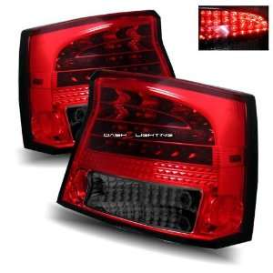 05 08 Dodge Charger LED Tail Lights   Red Smoke