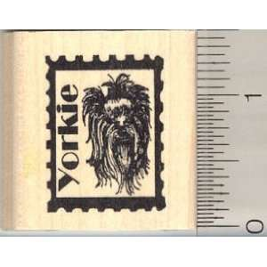 Postage, Yorkshire Terrier Dog Rubber Stamp Arts, Crafts & Sewing