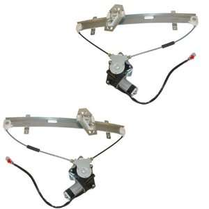 MPV Van Front Power Window Regulators with Motors Pair Set Automotive