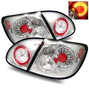03 06 Toyota Corolla LED Tail Lights   Chrome Automotive