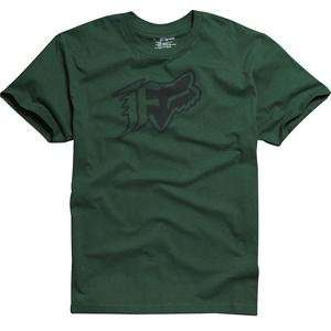 Fox Racing Oxford T Shirt   2X Large/Dark Green