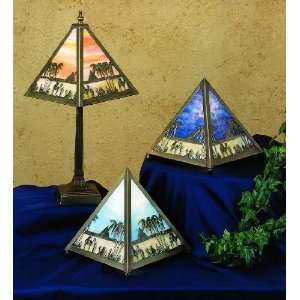 Tropical / Safari Accent Table Lamp from the Camel Caravan Collection