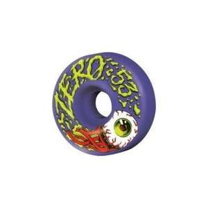 Zero Bloodshot Purple Skateboard Wheels   53mm 99a (Set of