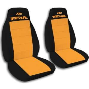 40/60 black and orange No fear seat covers for a 1997 1999 Ford F