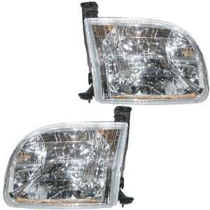 00 04 Toyota Tundra Pickup Truck Headlights Headlamps Head