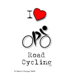 Love Road Cycling 3 inch x 2 inch Clear Acrylic Fridge Magnet
