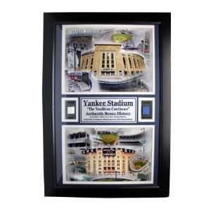 New York Yankees Yankee Stadium 12 in. x 18 in. Double Game Used Frame