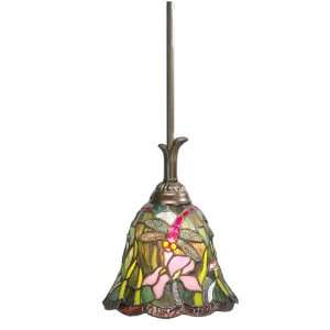 Dale Tiffany TH70100 Savannah Mini Pendant Light, Antique