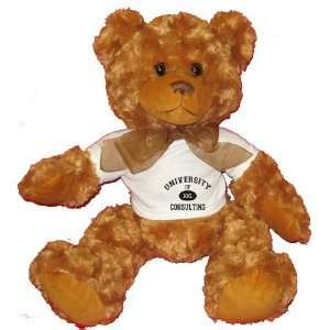 UNIVERSITY OF XXL CONSULTING Plush Teddy Bear with WHITE T