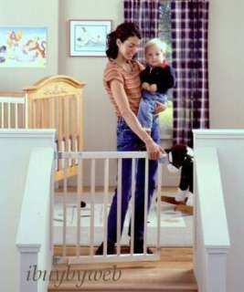 North States Wood Stairway Swing Baby Safety Gate 4630