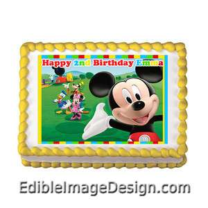 MICKEY MOUSE CLUBHOUSE Edible Birthday Party Cake Image Cupcake Topper