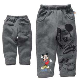Boxing Sale NWT Boys Kids Mickey Mouse Fleece Pants 2 5 Years 0815