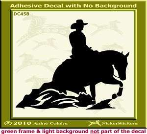 Sliding Reining Horse Trailer Window Decal Sticker 458M
