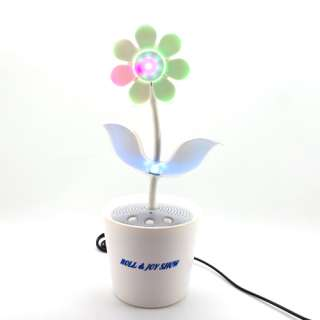 Sound Activated Music Dancing Flower Stereo Speaker