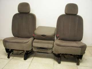 08 DODGE RAM 1500 2500 3500 POWER FRONT SEATS CENTER CONSOLE JUMP SEAT