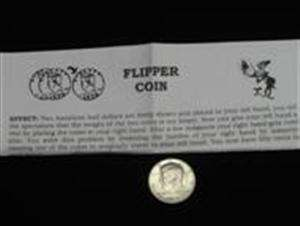Coin Magic Trick FLIPPER .50 Half Dollar Vanishing Appearing Coins