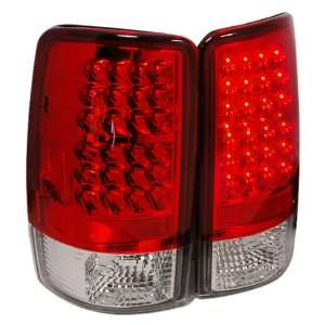 LED RC Red/Clear Medium LED Tail Light for GMC Denali 00 06   Pair