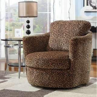 Wildon Home San Augustine Leopard Print Swivel Chair