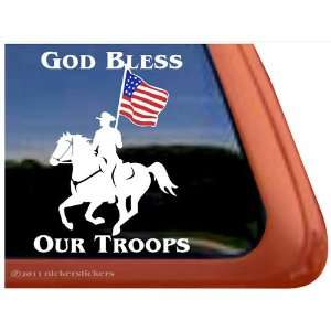 Troops Drill Team Vinyl Window Horse Trailer Decal Sticker Automotive