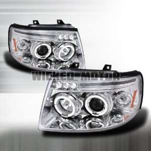 05 Ford Expedition Projector Headlights   Chrome Blue Lens Automotive