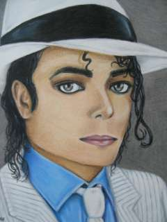 OOAK (One Of A Kind) Michael Jackson Smooth Criminal Portrait Pencil