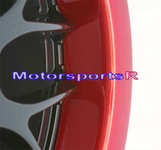 17 Sportmax XXR 006 Rims Wheels Black Red Lip Honda 08