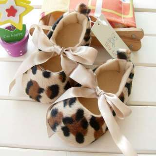 Leopard Print Baby Soft Sole Shoes Trainers 0 6 6 12M
